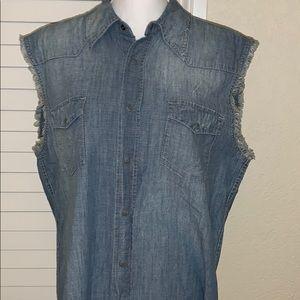 Earl Jeans mens Jean cutoff shirt